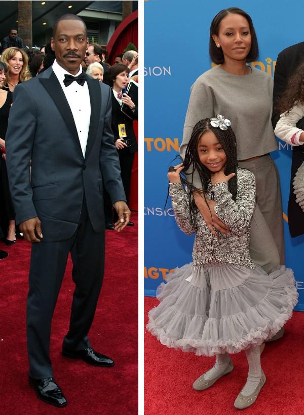 O ator Eddie Murphy e a cantora Mel B com a filha dos dois (Foto: Getty Images)
