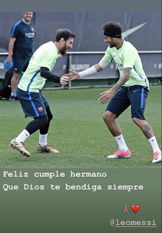 Mensagem de aniversário de Neymar para Messi nesta terça: dupla vai se reencontrar no Barcelona? — Foto: Reprodução/Instagram