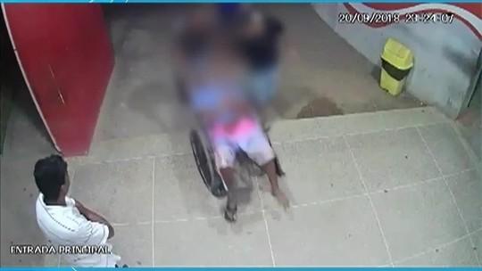 Paciente tem surto em unidade de saúde, agride funcionários e quebra porta de vidro
