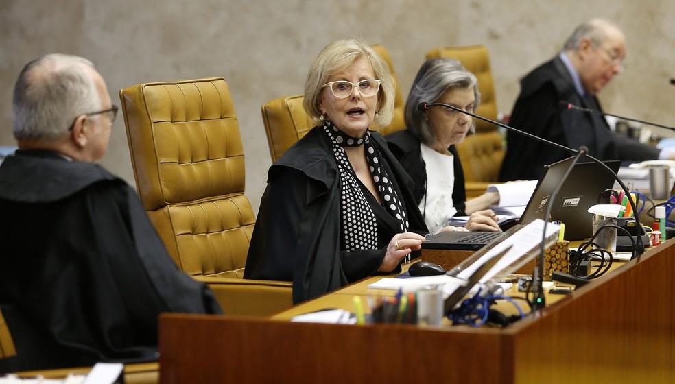 Ministra Rosa Weber durante sessão no STF nesta quinta-feira (24) — Foto: DIDA SAMPAIO/ESTADÃO CONTEÚDO