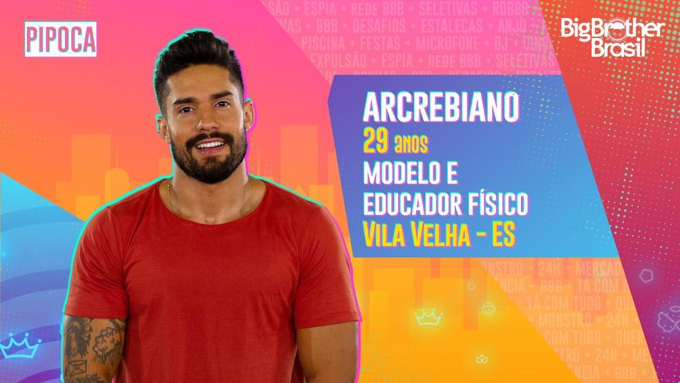Arcrebiano é participante do 'BBB21' — Foto: Divulgação/Globo