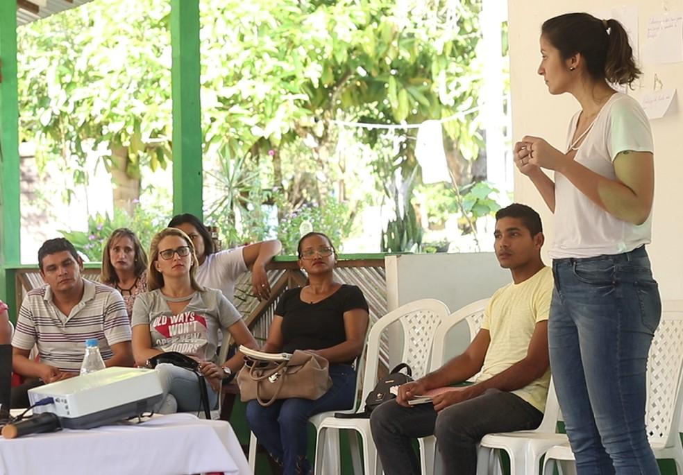-  Segundo módulo de formação para professores de escolas públicas de Juruti foi realizado em agosto de 2018  Foto: Ascom Alcoa/Divulgação