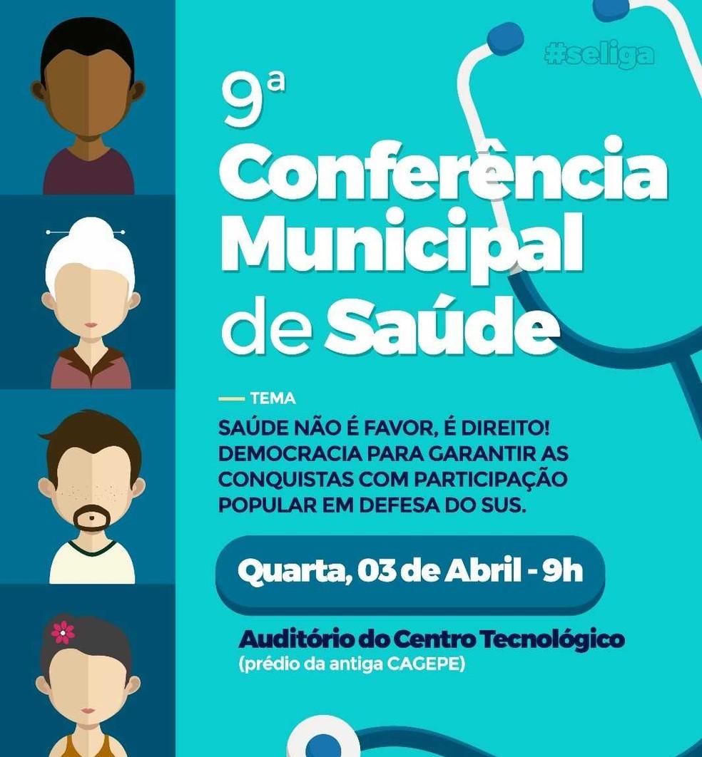 Conferência Municipal de Saúde em Afogados da Ingazeira ? Foto: Prefeitura/Divulgação