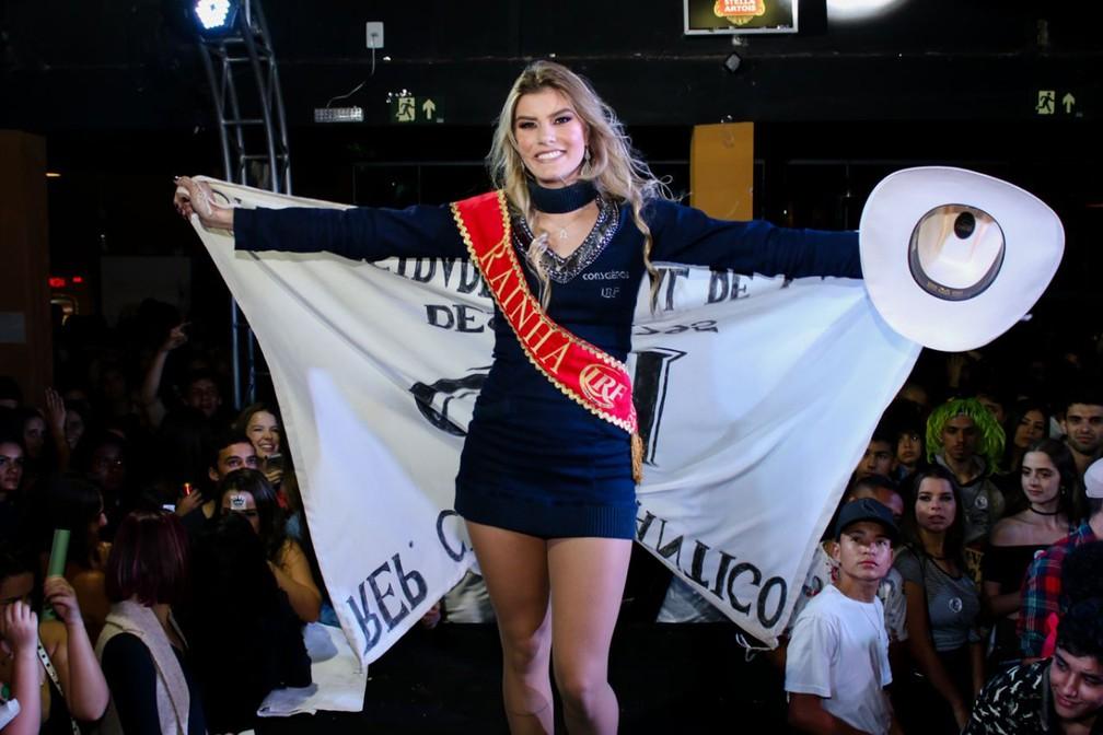 A estudante Marynna Santinelli, a Ma, foi eleita a Rainha do Lavras Rodeo Festival 2018 (LRF). — Foto: Daniel Oliveira