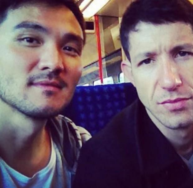 Fabiano Augusto e o namorado (Foto: Reprodução/Instagram)