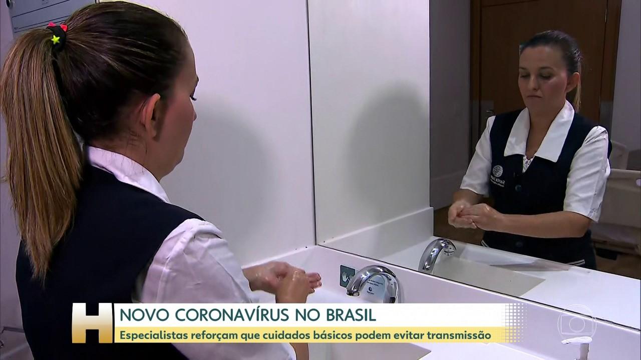 Especialistas reforçam que cuidados básicos podem evitar transmissão do novo coronavírus