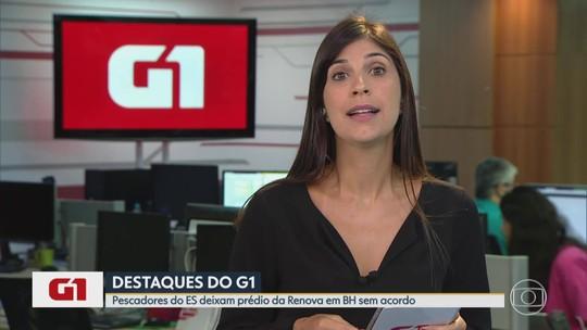 G1 no BDMG: Sem acordo, pescadores do ES deixam prédio da Renova em Belo Horizonte