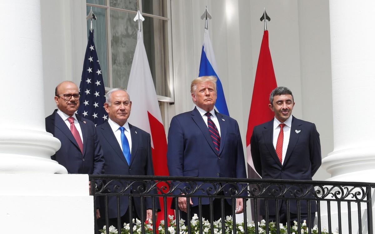 Com Trump como anfitrião, Israel assina acordos diplomáticos com Emirados Árabes e Bahrein