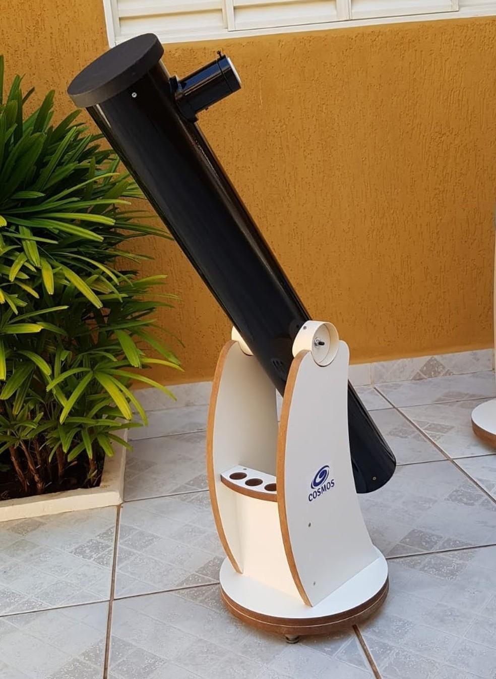 No Observatório da Unesp-Bauru, eclipse foi observado em um telescópio Cosmos, com lente ocular de 23mm e filtro — Foto: Rodolfo Langhi/Divulgação