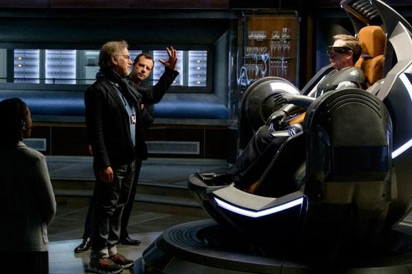 Steven Spielberg durante as filmagens do longa (Foto: Divulgação)