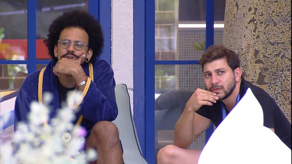 Caio comenta sobre brother do BBB21: 'Dei bom dia e ele nem olhou na minha cara' — Foto: Globo