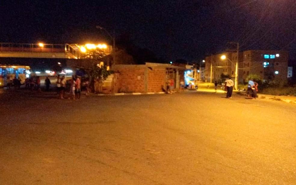 Entrada do Parque das Bomélias, em Salvador, na sexta-feira. — Foto: Vanderson Nascimento/TV Bahia