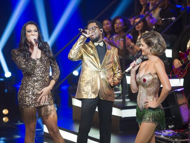Os vocalistas da banda 'Amor & Sexo' R (Foto: Globo/Reprodução)