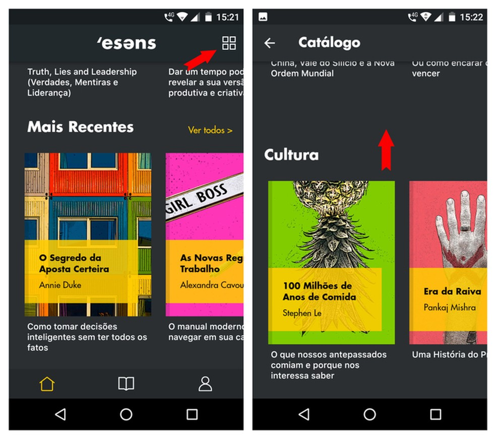 Catálogo do Esens reúne diversos assuntos como cultura, tecnologia e relacionamentos — Foto: Reprodução/Adriano