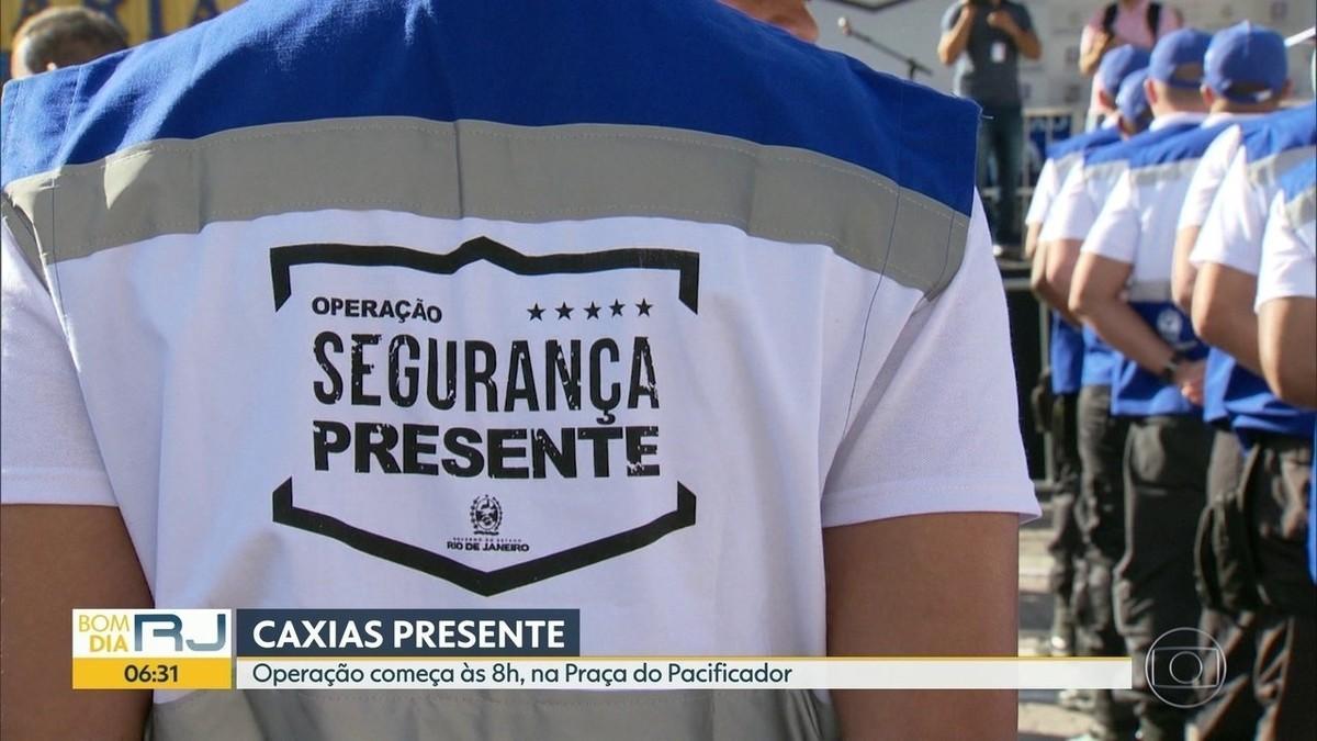 Operação Segurança Presente é inaugurada em Caxias, na Baixada Fluminense, nesta quinta - G1
