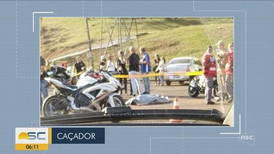 Homem morre após cair de moto em Caçador
