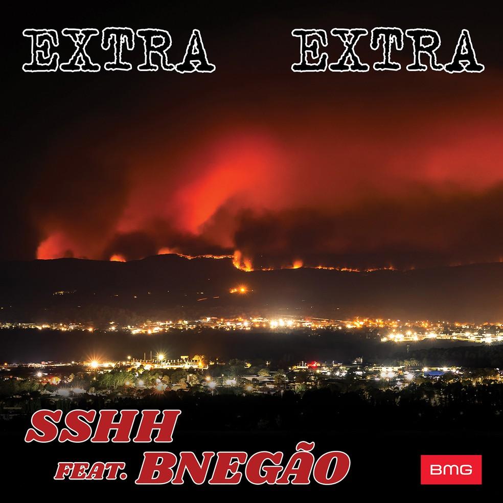 Capa do single 'Extra Extra', do SSHH com BNegão — Foto: Divulgação