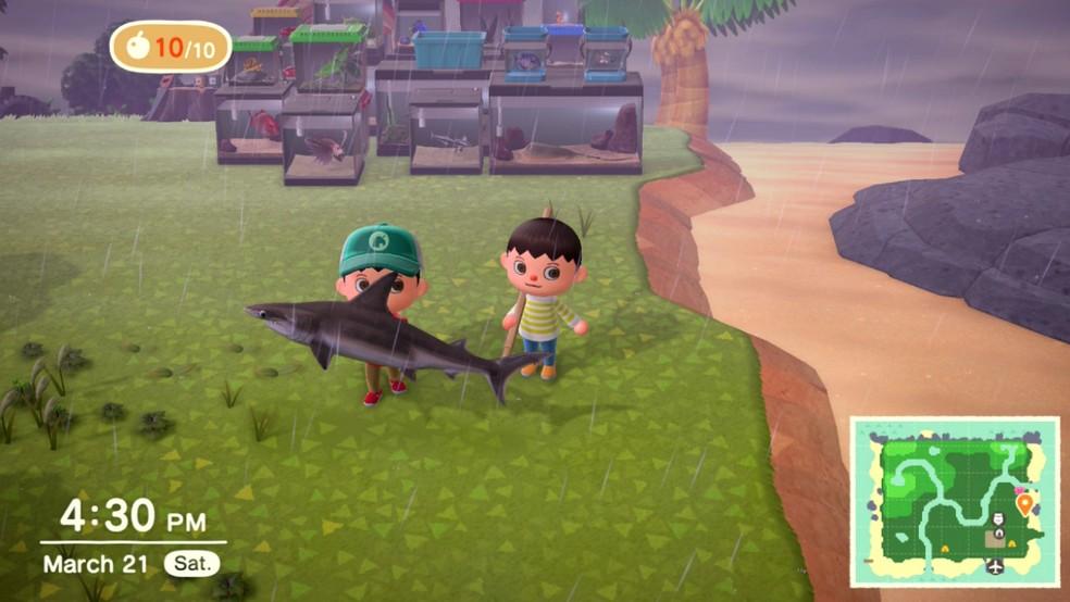 Visitar seus amigos é uma das melhores partes de Animal Crossing: New Horizons — Foto: Reprodução/João Furtado