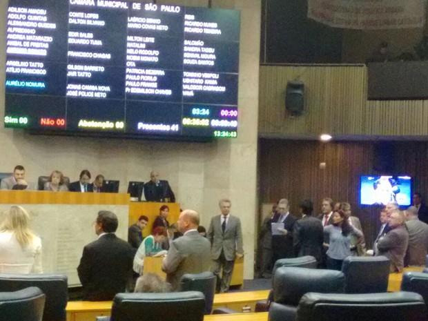 Vereadores votam nova lei de Zoneamento na tarde desta quinta (25) (Foto: Roney Domingos/G1)