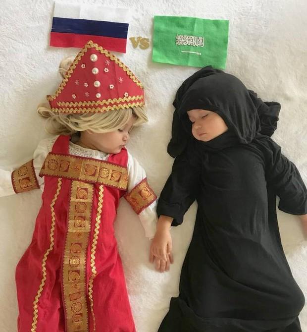 Rússia vs Arábia Saudita: burca não; burquinha (Foto: Reprodução)