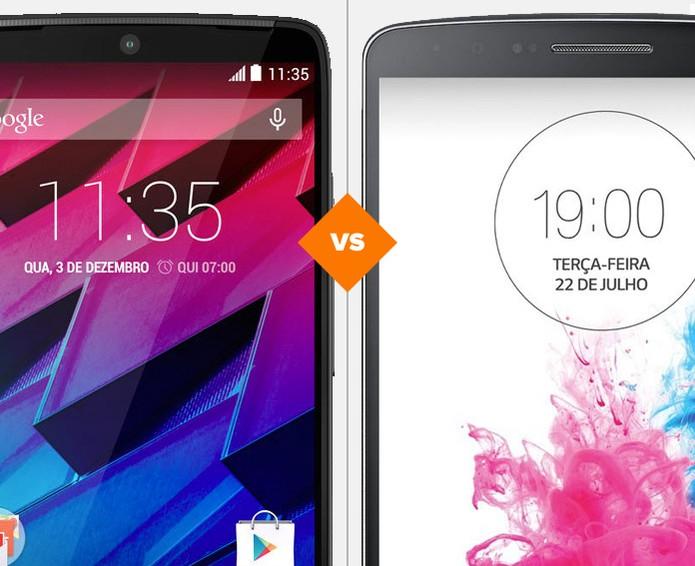 Moto Maxx e LG G3: qual é o melhor top? (Foto: Arte/TechTudo)