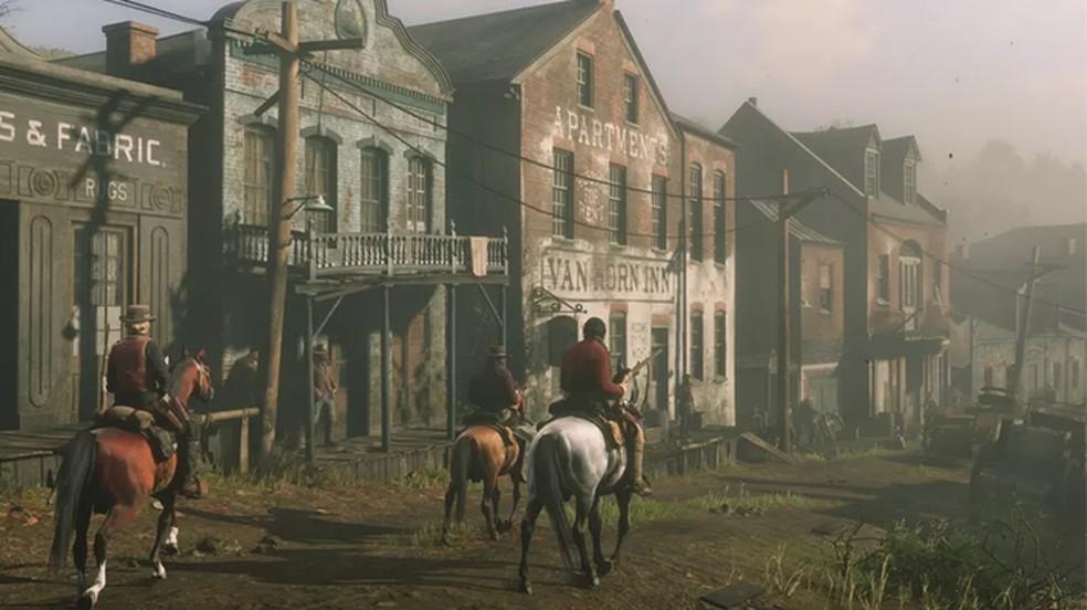 Cidades de Red Dead Redemption 2 ficam vazias devido a estranho bug no Xbox One — Foto: Reprodução/Polygon