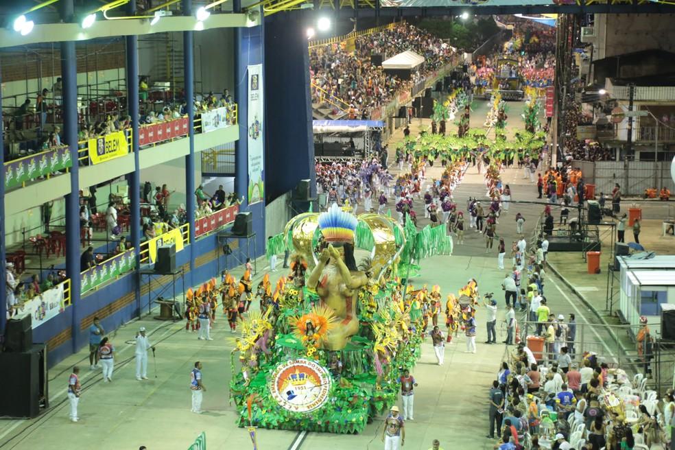 Embaixada De Samba Do Império Pedreirense Carnaval de Belém 2020 — Foto: Alessandra Serrão/Comus