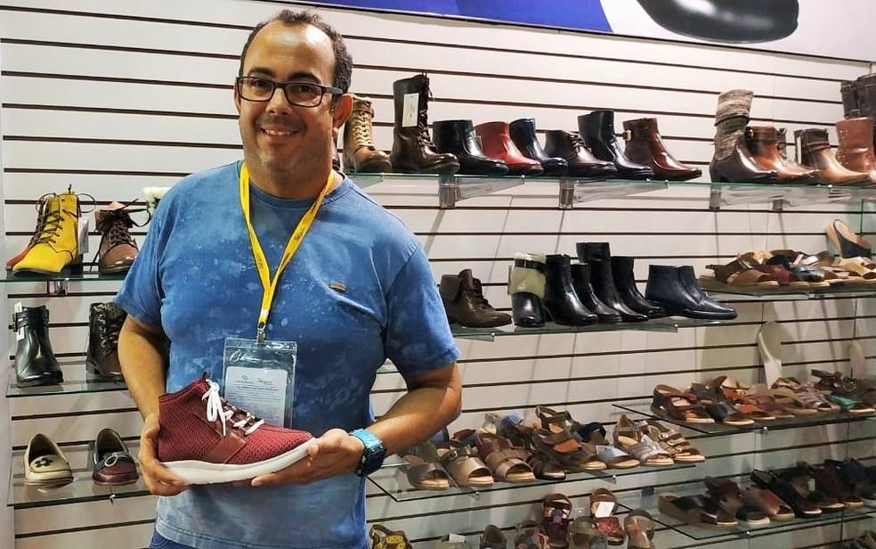 Alan Marcondes, empresário do setor calçadista de Franca (SP) na Couromoda 2019 — Foto: Márcia Alves/ Divulgação Sindifranca