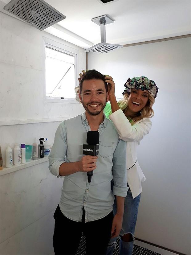 Ricky Hiraoka entrevistou Ticiane Pineiro (Foto: Marie Claire)