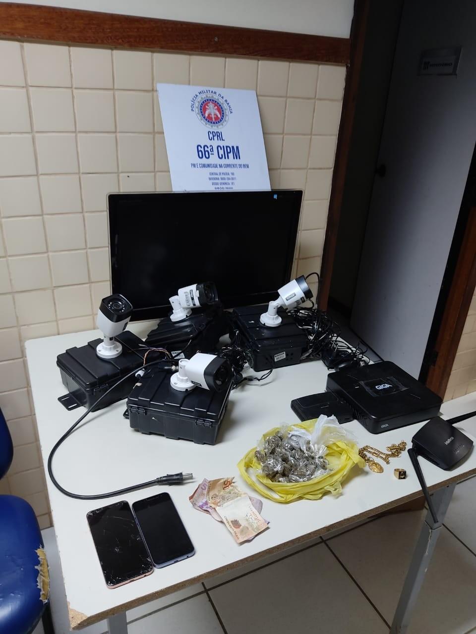 Polícia descobre câmeras clandestinas que monitoravam viaturas em bairro de Feira de Santana