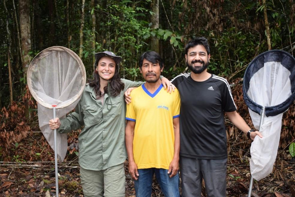 Isabela trabalhou na busca por borboletas ainda não identificadas do Monte Roraima — Foto: Isabela de Freitas/Acervo Pessoal