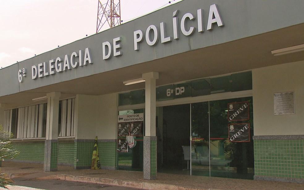 Fachada da 6ª Delegacia de Polícia (Paranoá) do Distrito Federal, — Foto: TV Globo/Reprodução