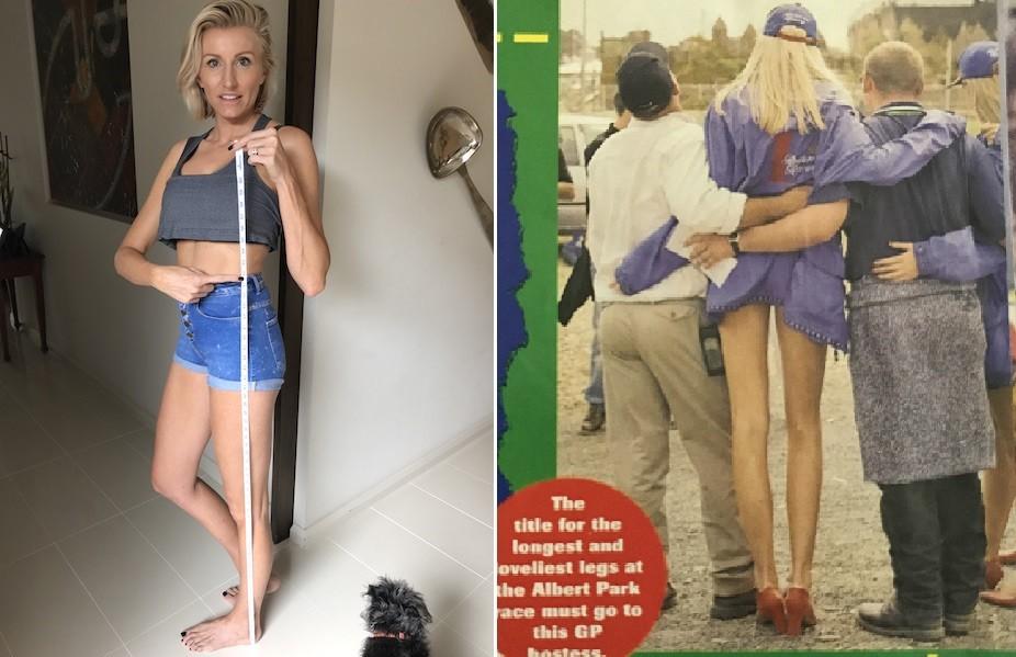 As pernas compridas foram um atrativo na carreira de modelo da australiana