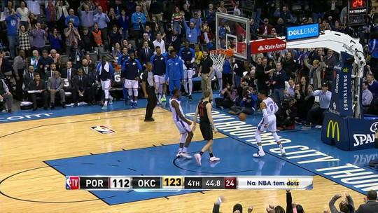 Paul George e Westbrook se impõem na reta final, e Thunder derruba os Blazers