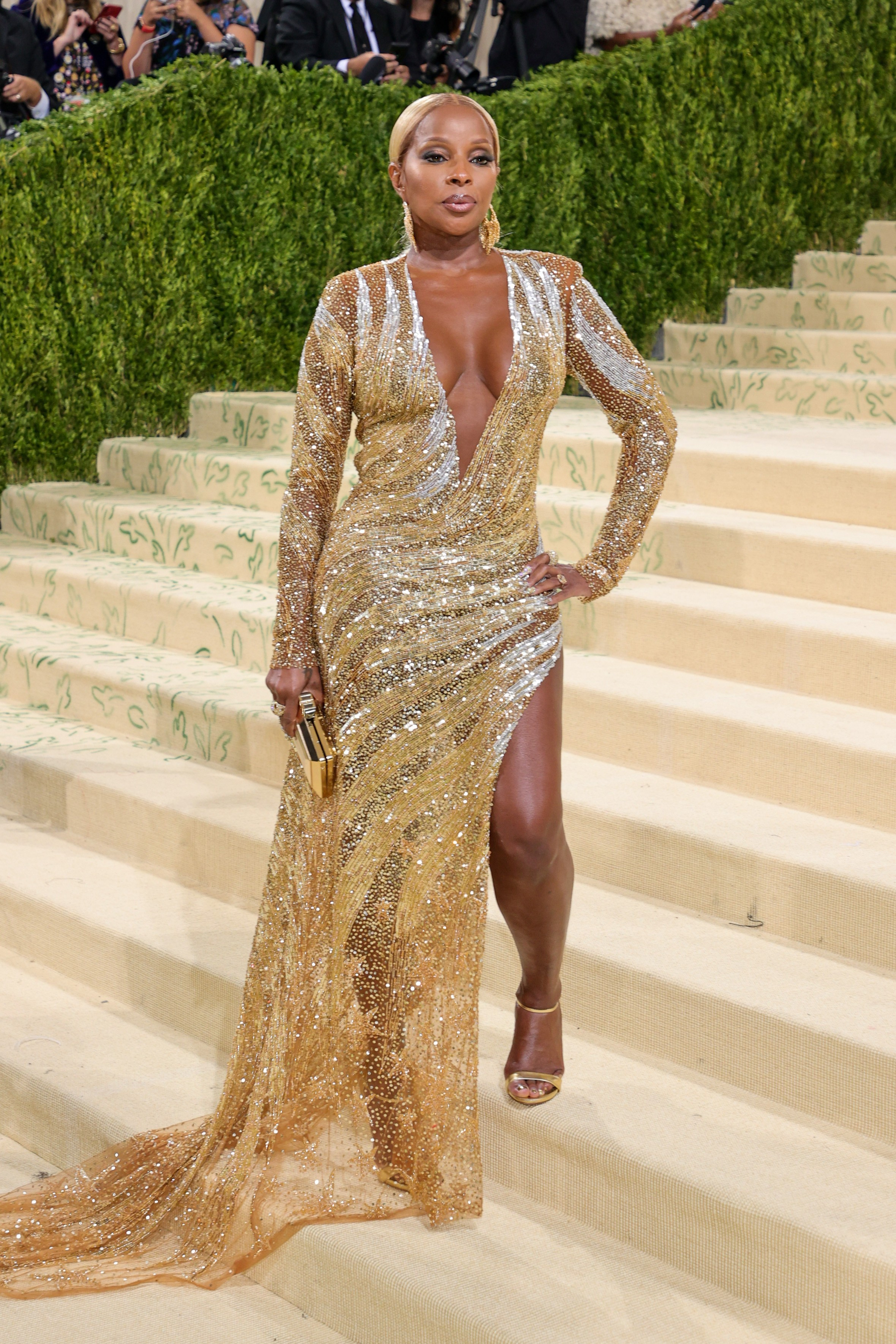 NEW YORK, NEW YORK - SEPTEMBER 13: Mary J Blige attends The 2021 Met Gala Celebrating In America: A Lexicon Of Fashion at Metropolitan Museum of Art on September 13, 2021 in New York City. (Photo by Theo Wargo/Getty Images) (Foto: Getty Images)
