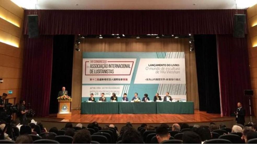 Pesquisadores e estudiosos da língua portuguesa de universidades de todo o mundo se reuniram em Macau, China, entre 23 e 29 de julho  (Foto: Daniel Mandur Thomaz)