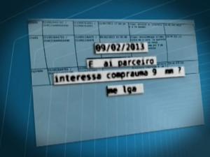Mensagens enviadas pelo ex-sargento de Campinas (SP) (Foto: Reprodução/ EPTV)