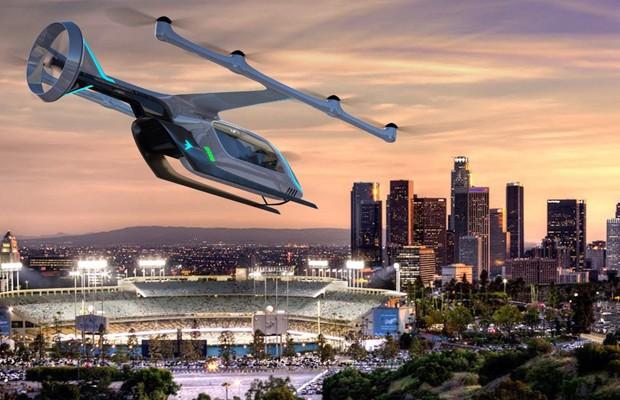 Carros voadores são grande aposta da Embraer no futuro da mobilidade urbana (Foto: Embraer)