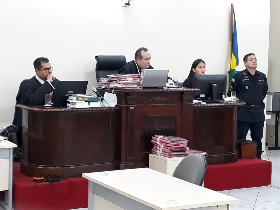 Novo júri de Naiara Karine aconteceu em Porto Velho — Foto: TJ-RO/Divulgação