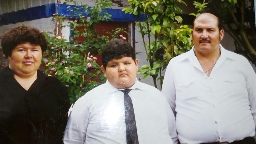 Até os seis anos, Juan Pedro Franco ganhou uma média de 10 kg por ano  (Foto: Arquivo pessoal/Juan Pedro Franco)