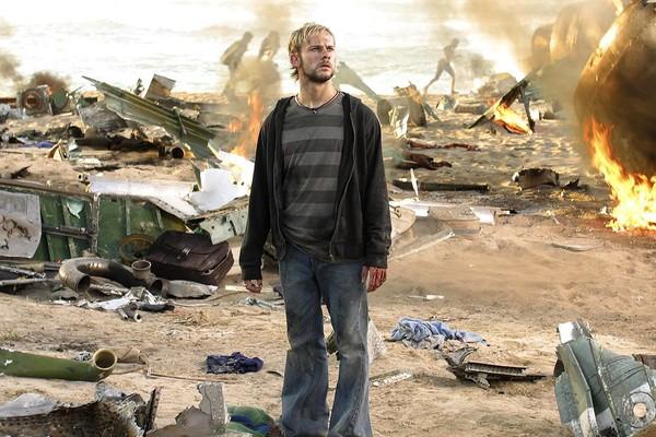 O ator Dominic Monaghan em cena de Lost (Foto: Reprodução)