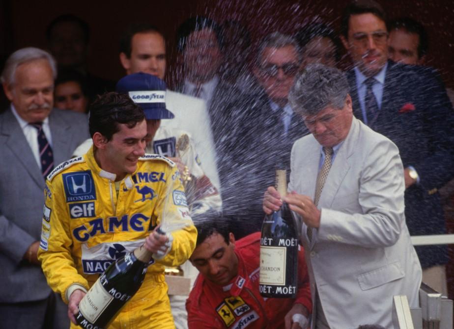 Macacão de Senna da 1ª vitória em Mônaco (e de banho em família real) vai a leilão