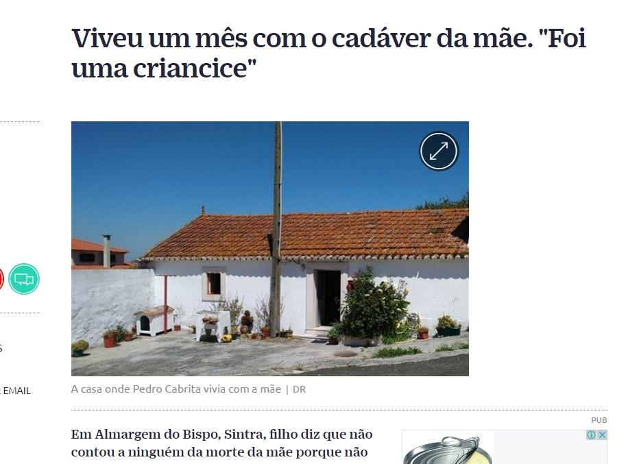 Casa em que o cadáver de Maria João foi mantido por um mês