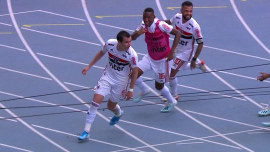 Veja os gols da vitória do São Paulo sobre o Botafogo