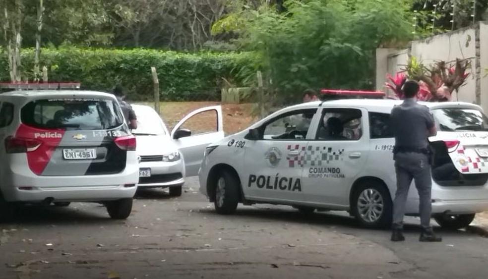 PM é baleado após perseguição em Americana — Foto: Rafael Rezende