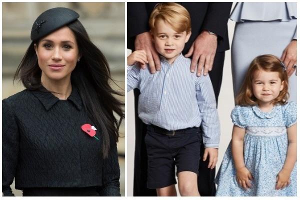 Meghan Markle, Príncipe George e Princesa Charlotte (Foto: Getty Images / Instagram)