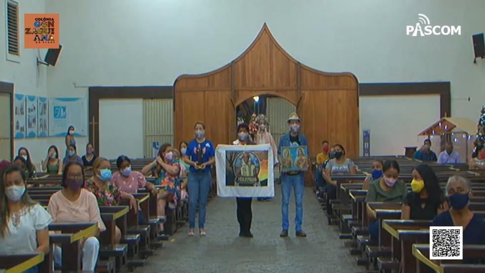 Celebração acontece na Paróquia Nossa Senhora de Lourdes, no bairro Vermelha, Zona Sul de Teresina — Foto: Reprodução