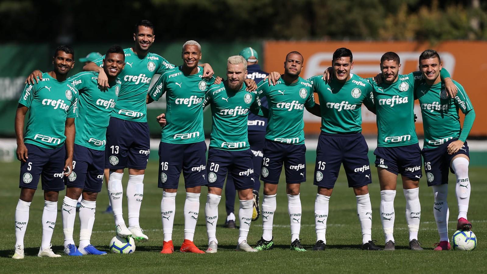 Palmeiras faz treino fechado para enfrentar o Bahia; veja a provável escalação para domingo