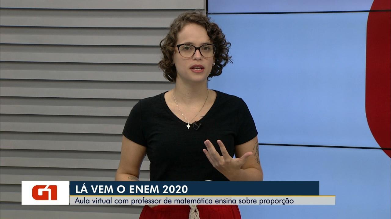 Lá Vem o Enem 2020: Assista a videoaula de matemática sobre proporção