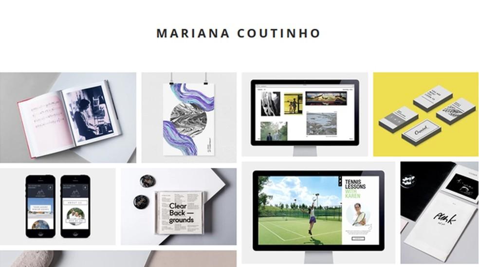 Exemplo de portfólio feito com o Wix — Foto: Reprodução/Mariana Coutinho